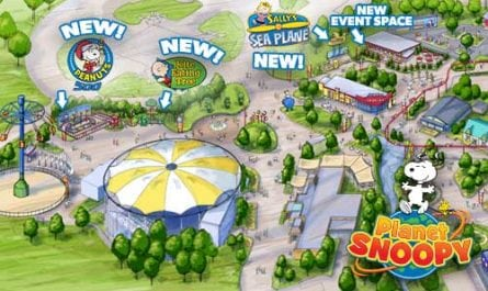 Kings Dominion Planet Snoopy Expansion 2017
