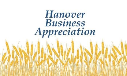 Hanover Business Appreciate over wheat graphic