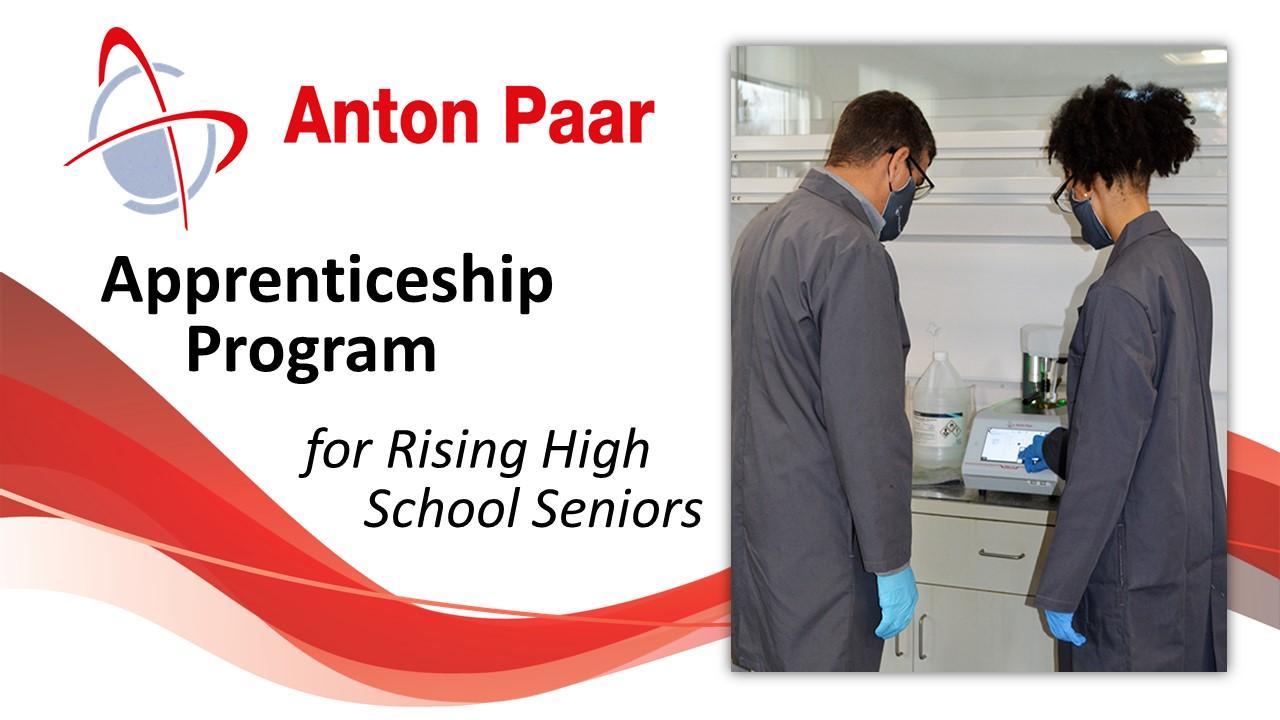 Anton Paar Apprenticeship Program Open to Rising High School Seniors