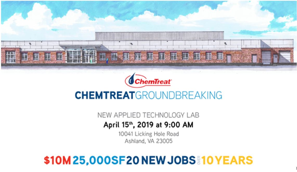 architectural drawing of the ChemTreat building