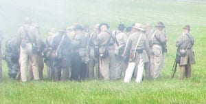Cold Harbor battle reenactment