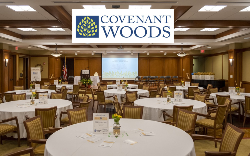 Covenant Woods event venue set up for an event
