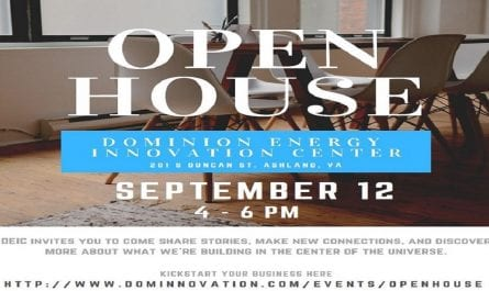Dominion Energy Innovation Center's Open House on September 12 from 4-6pm