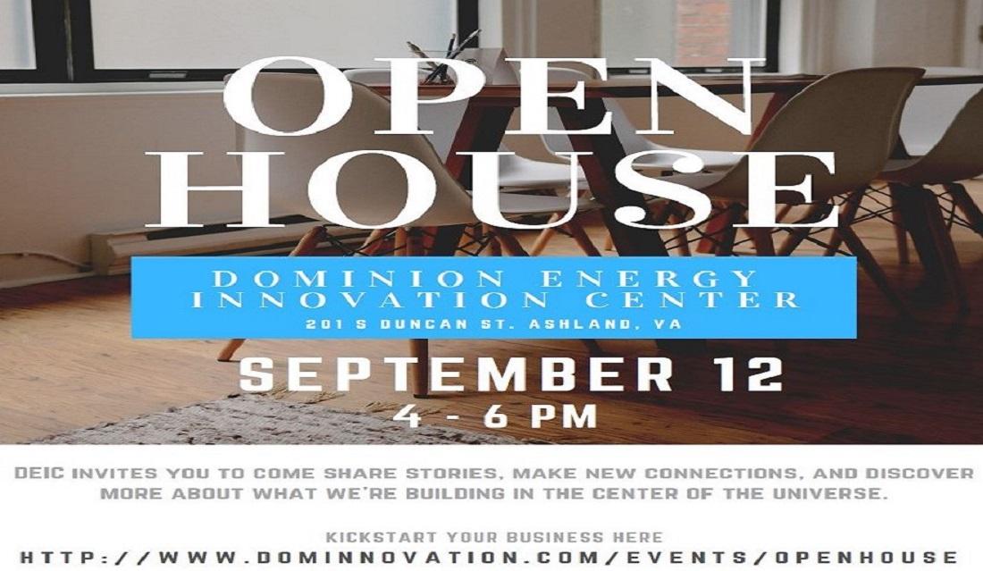 Dominion Energy Innovation Center's Open House on September 12 from 4-6pm