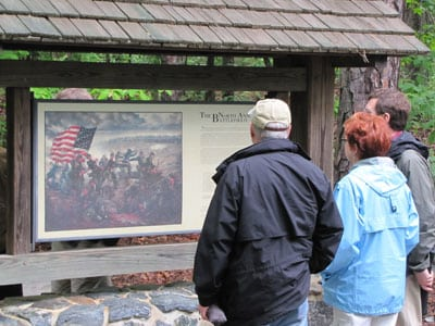 Tourists at North Anna Battlefield