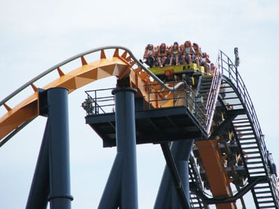 Roller coaster at Kings Dominion